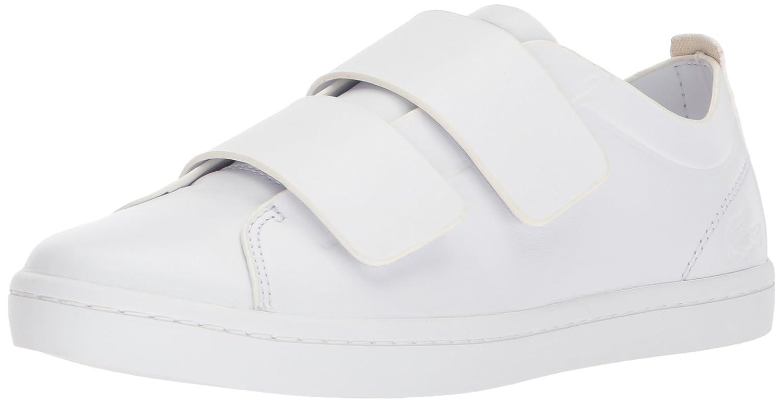 Lacoste Women's Straightset Strap 118 1 Caw Sneaker B072KJMFXH 8 B(M) US|White/White