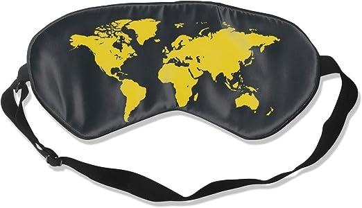 Máscara para dormir Mapa del mundo amarillo Máscaras para