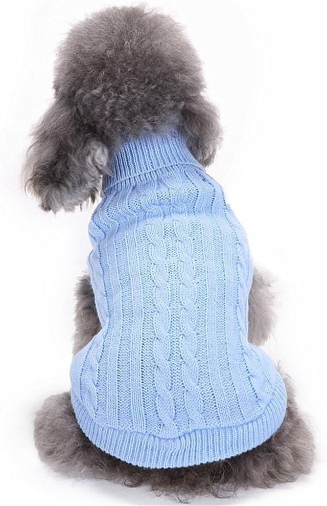 M, Light Brown Cute Pet Puppy Cat Dog Warm Jumper Sweater Knitwear Coat Apparel Clothes