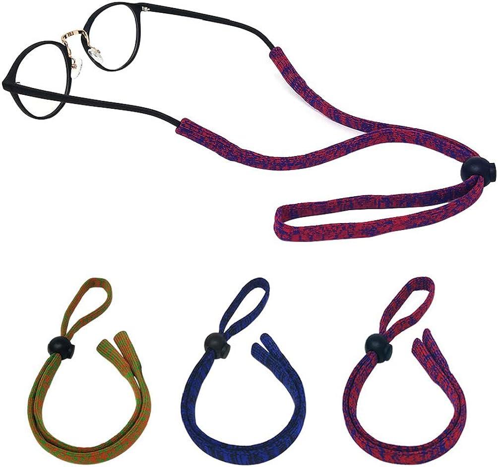 LUFF Cadena de gafas antideslizantes Correa de gafas | Retenedor, gafas de deporte ajustables Cinturón de fijación de nylon suave y agradable a la piel