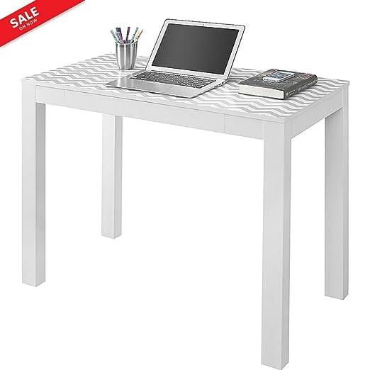 Mesa estrecha para ordenador portátil con cajón, mesa de estudio ...