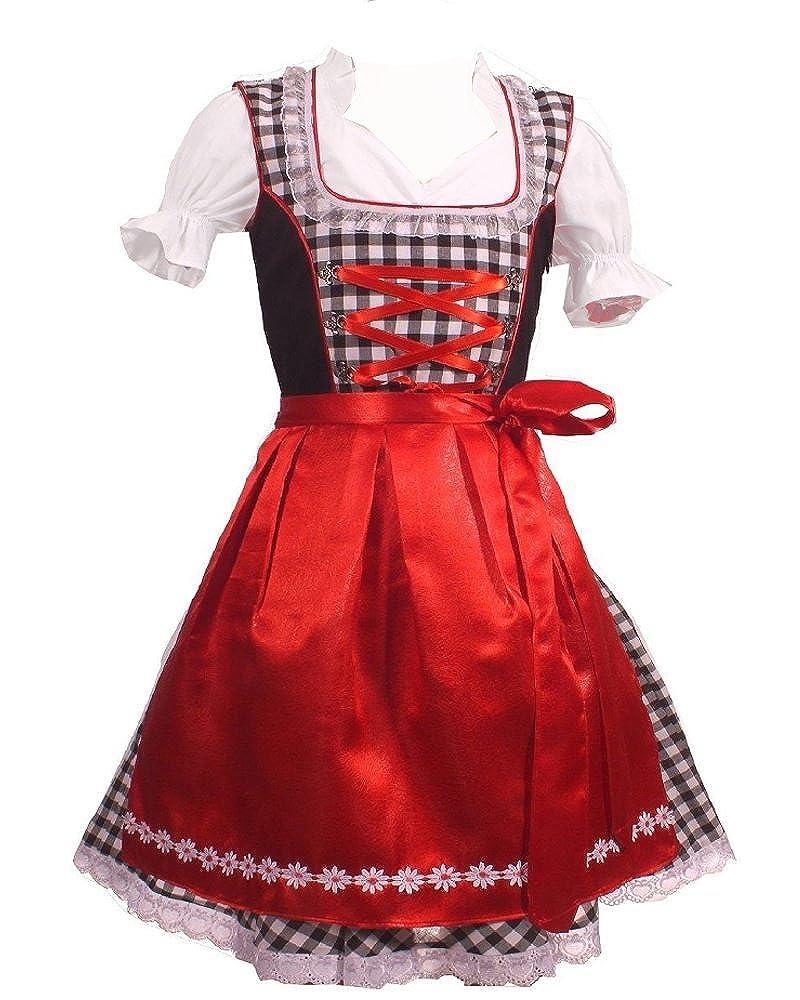 Trachtenkleid 3tlg. Kinder Dirndl Mädchen Kleid Gr. 92, 104, 116, 128, 140, 146, 152 KD-117