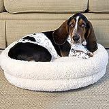 Iconic Pet Premium Snuggle Bed, Medium, White