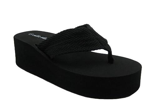 394010db0 Platform Flip-Flop Cute   Comfy Thong Sandals (7.5
