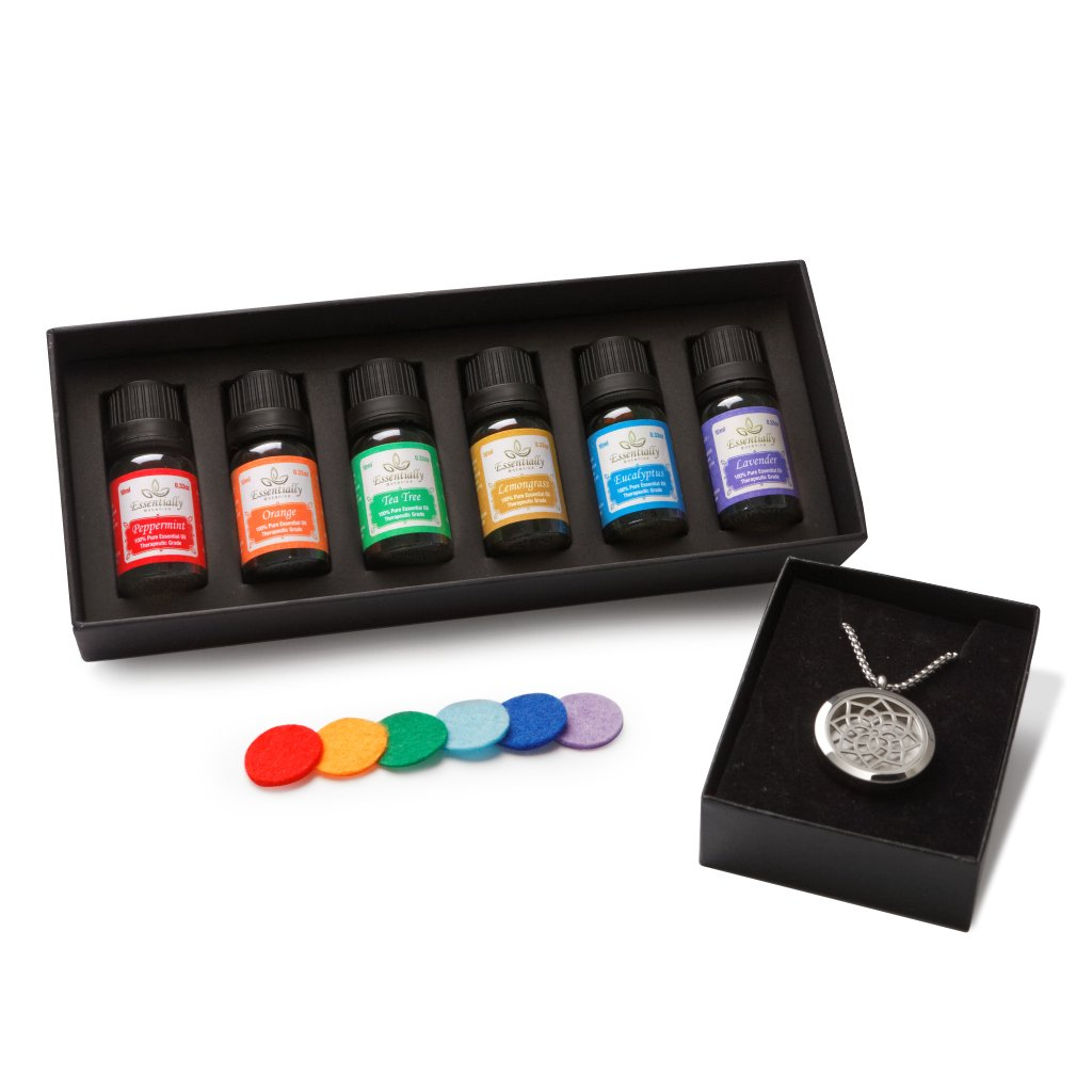 Aromatherapy Essential Oils & Diffuser Necklace Gift Set
