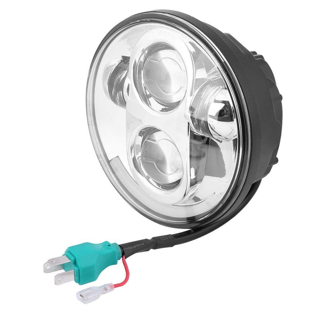 Qii lu QL08269 5.75 40W LED Faro de Motocicleta de Impermeable Haz Alto//Bajo para Harley Davidson Plata