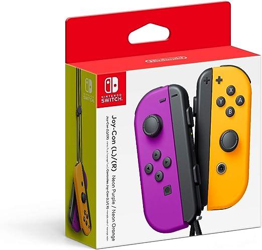 Nintendo Neon Purple/ Neon Orange Joy-Con (L/R) Neón Púrpura / Naranja Neón - Official Nintendo Switch JoyCon Controllers Pair: Amazon.es: Videojuegos