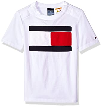 2b213b67 Amazon.com: Tommy Hilfiger Adaptive Boys' T Shirt Magnetic Buttons at  Shoulders: Clothing
