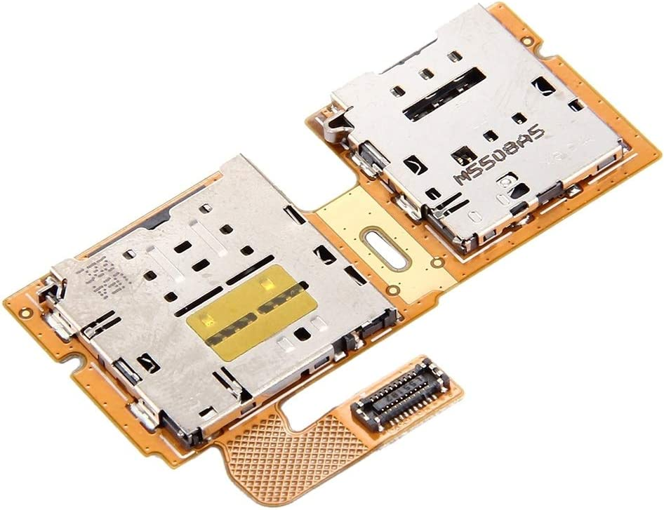 T815 PhonSIM Card Replacement Parts SIM /& Micro SD Card Reader Contact Flex Cable for Galaxy Tab S2 9.7