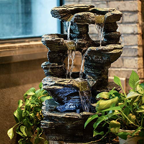 Outdoor Rock Fountains With Lights in US - 7