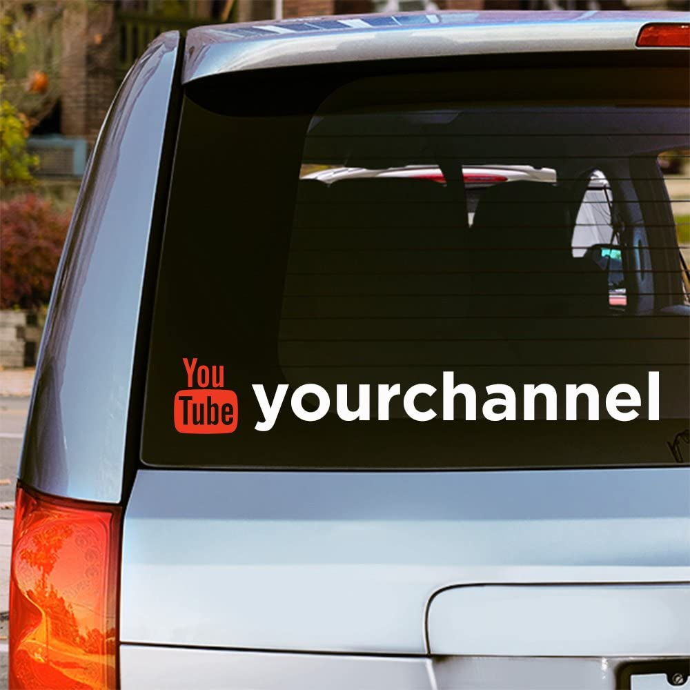 YOUTUBE custom username Decal Vinyl Car Window Sticker ANY SIZE