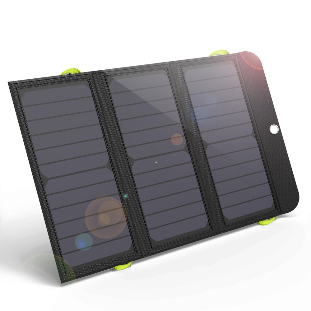 ALLPOWERS 21W Solar Charger with 6000mAh Battery, 3 USB Ports(USB-C and USB-A) SunPower Solar Panel Power Bank for iPhone 7 6s 6 Plus, iPad Air Mini, Samsung Galaxy and More Android Smartphone