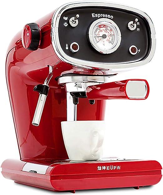 Cafetera roja Vintage Máquina de café de Cappuccino semiautomático ...