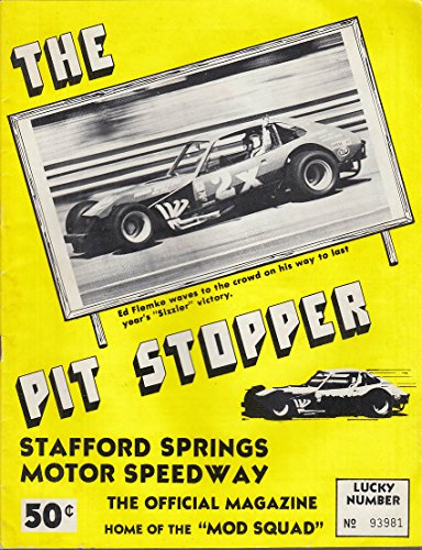 Stafford Springs Speedway Pit Stopper 4/7 1974 Ed Flemke Stevens Spring Sizzler
