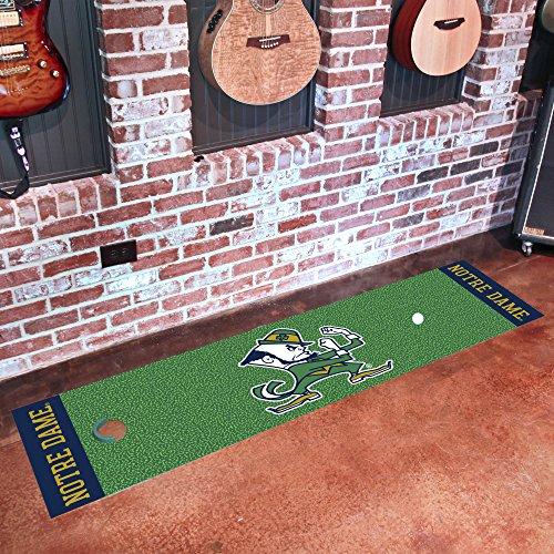 Notre Dame Baseball Rug - Notre Dame Putting Green Mat for Golf Fans