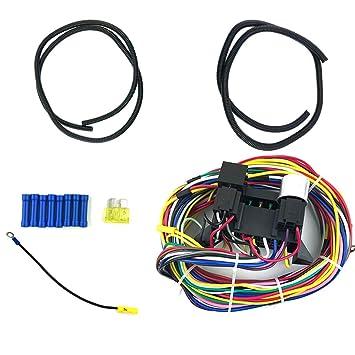 fish Los Cables 12 Circuito Universal arnés de cableado del Coche del músculo de la Calle de Rod XL: Amazon.es: Electrónica