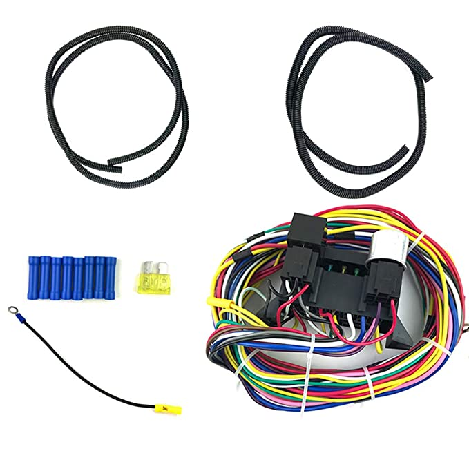 amazon com: beaums 12 circuit universal wiring harness muscle car hot rod  street rod xl wires: clothing