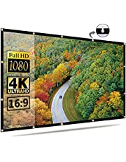 Projector Screen 16:9 HD Foldable for Home Theater Cinema Indoor Outdoor (120 inch)