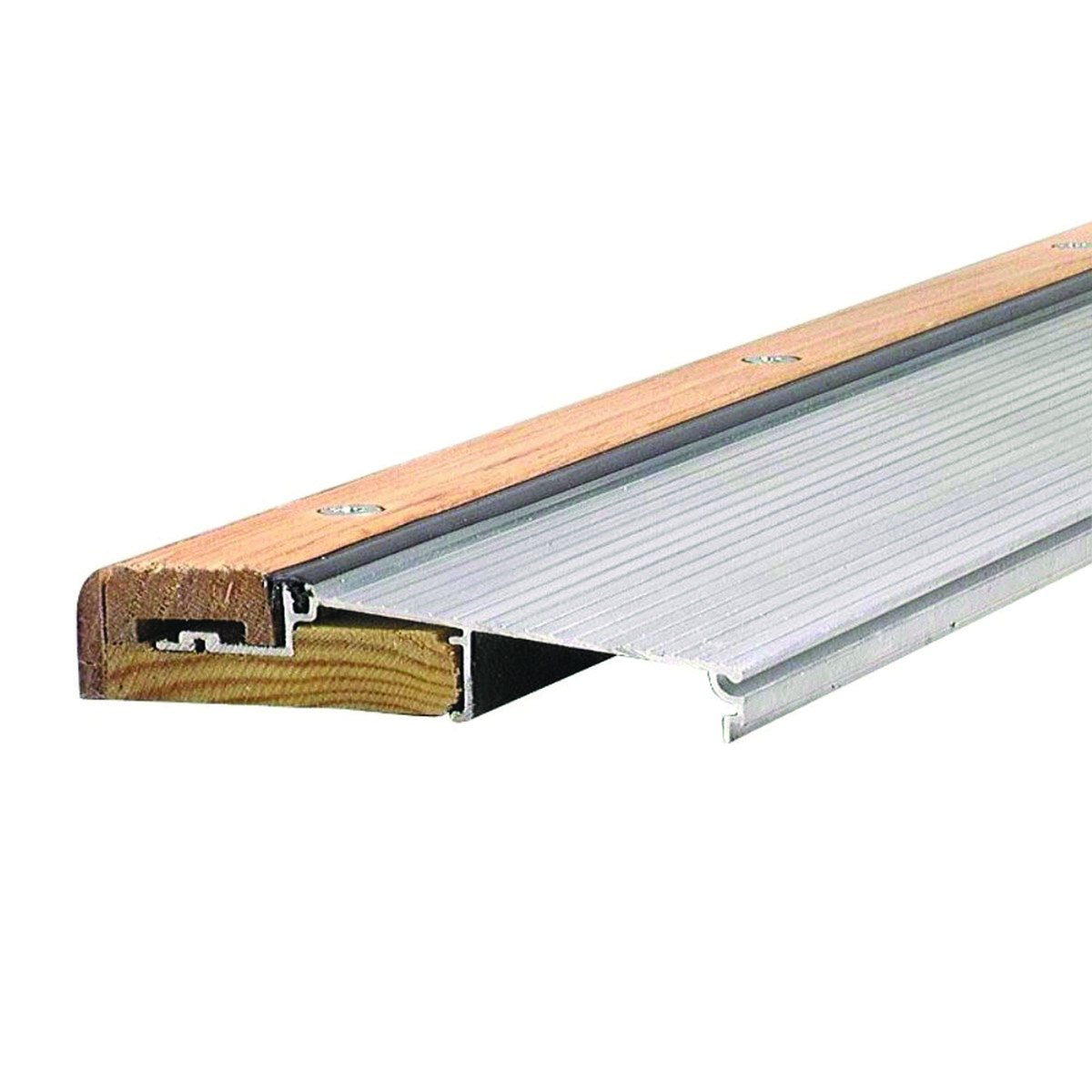 Adjustable 5-5/8'' Wide Aluminum and Hardwood Inswing Door Threshold -#99089