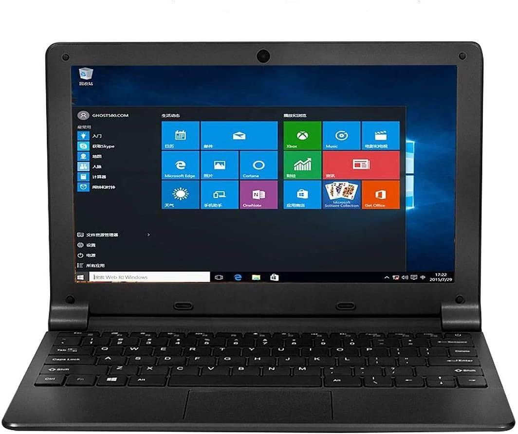 IDOL Laptop 10.1Inch Quad Core Ultra Thin PC, 2GB RAM 32GB Storage 1.92GHZ USB 2.0 Windows 10 HD Graphics WiFi, HDMI, BT, Supports 128GB TF-Card Notebook Computer (Black)