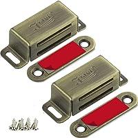 Magnetische deurvangst Jiayi 2 Stuks kabinet magneten RV kabinet vergrendelingen en vangsten geborsteld nikkel kabinet…