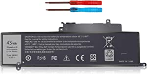 LNOCCIY 11.1V 43WH GK5KY 04K8YH Laptop Battery for Dell Inspiron 11 3147 3000 3148 3152 Inspiron 13 7000 7347 7348 7352 7353 Series P20T 4K8YH 04K8YH 0WF28 92NCT 092NCT