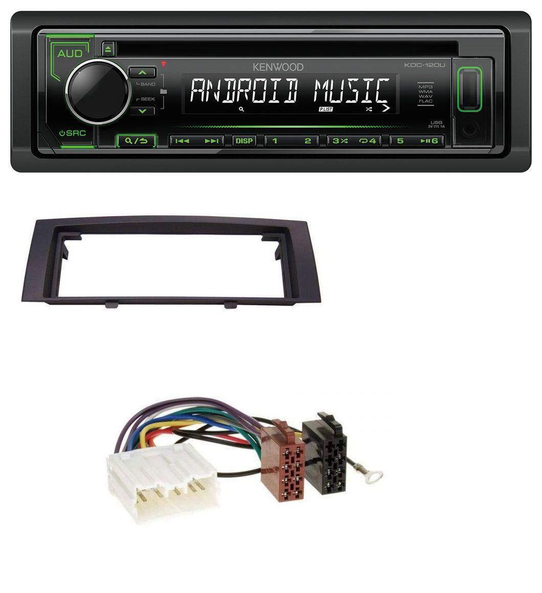 caraudio24 Kenwood KDC-120UG 1DIN USB CD MP3 Aux Autoradio fü r Mitsubishi Colt (2004-2008)