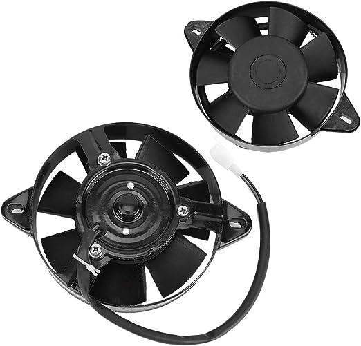 Qii lu Ventilateur de Radiateur de Voiture Ventilateur de Refroidisseur deau de Moteur Pale de Ventilateur de Refroidissement du Moteur/ pour VTT et Kart 150cc ~ 250cc