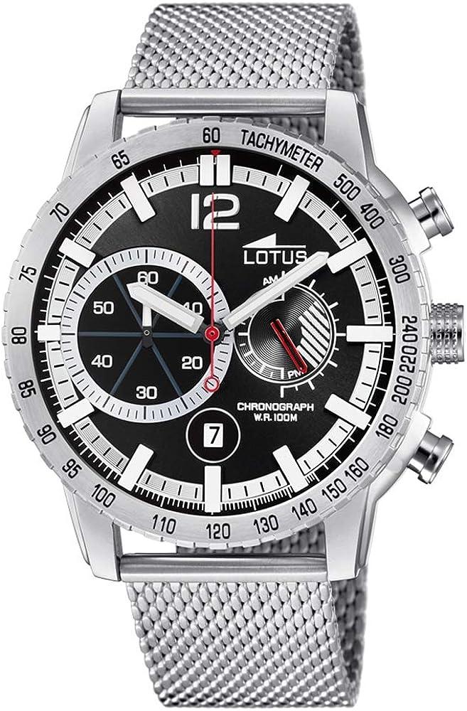 Lotus Reloj Cronógrafo para Hombre de Cuarzo con Correa en Acero Inoxidable 10137/3