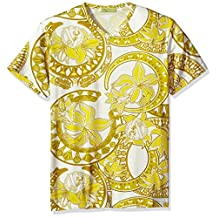 Versace Jeans Mens Gold Printed T-Shirt