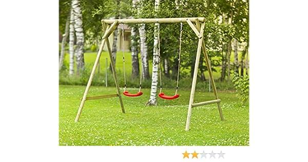 Columpio de jardín para niños de madera de abeto nórdico: Amazon.es: Hogar