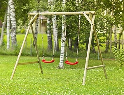 Altalena da giardino per bambini in legno d abete nordico amazon