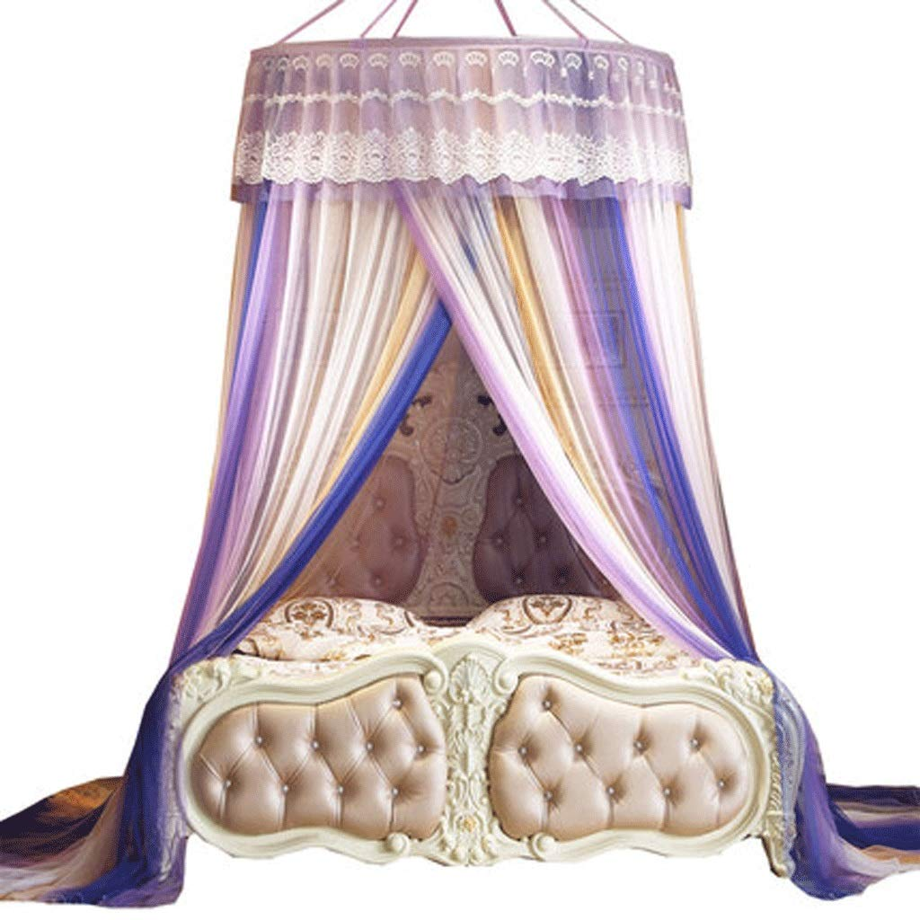 Mosquito Net Dust top Zipper Drop Children 1.5/1.8m Bed 2 m Household encryption Thickening Princess Wind (Color : A, Size : 1.8m Bed)