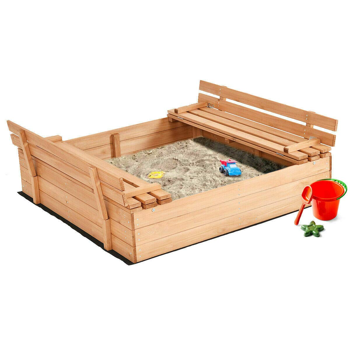 allgoodsdelight365 Foldable Beach Cabana Sandbox Retractable w/ Bench Seat Kids Children Outdoor by allgoodsdelight365 (Image #1)