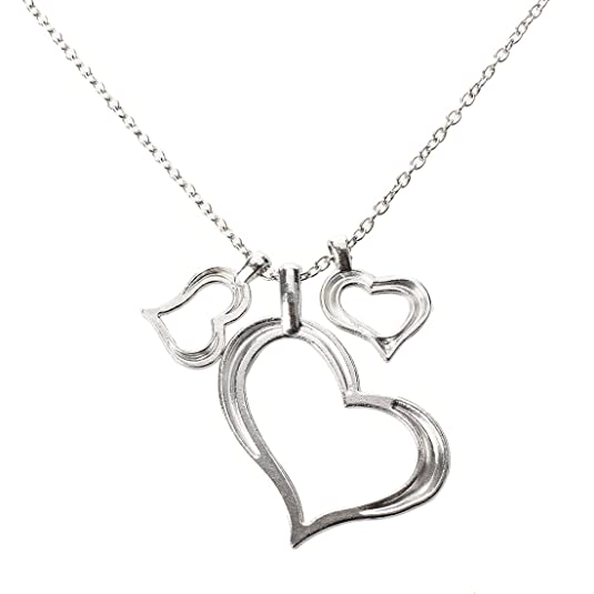 Amazon Com Sodialr Triple Hearts Pendant Necklace Silver Love