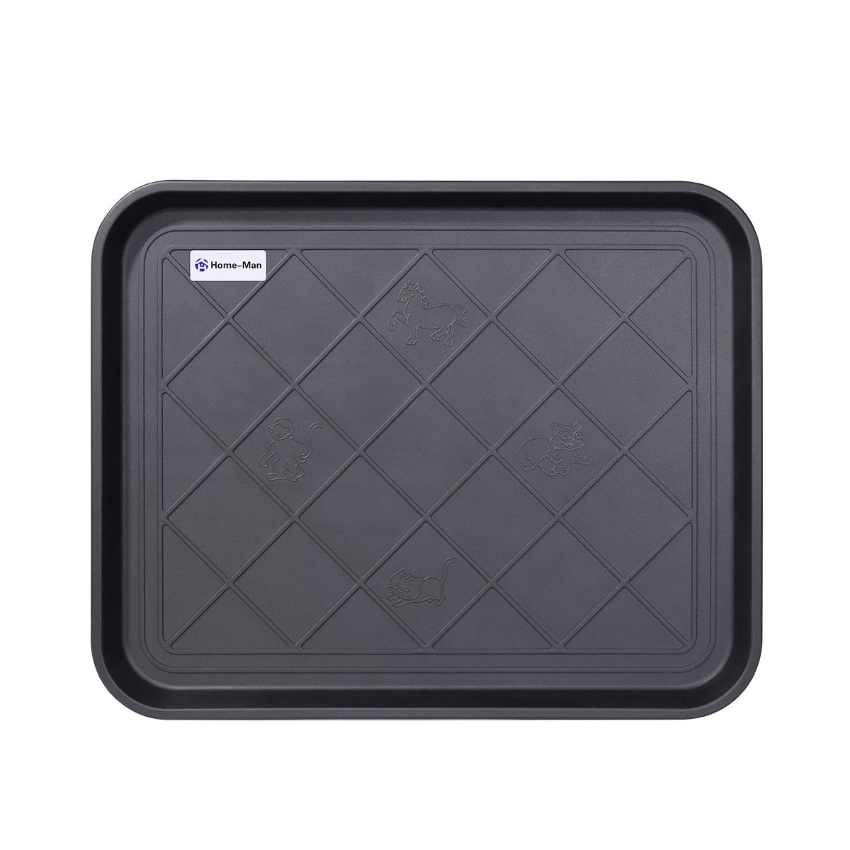 Home-Man Multi-Purpose Boot Tray Mat,Dog Bowl Tray,Waterproof for Indoor and Outdoor Floor Protection