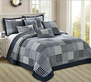 THL Parure de lit avec couvre-lit en patchwork