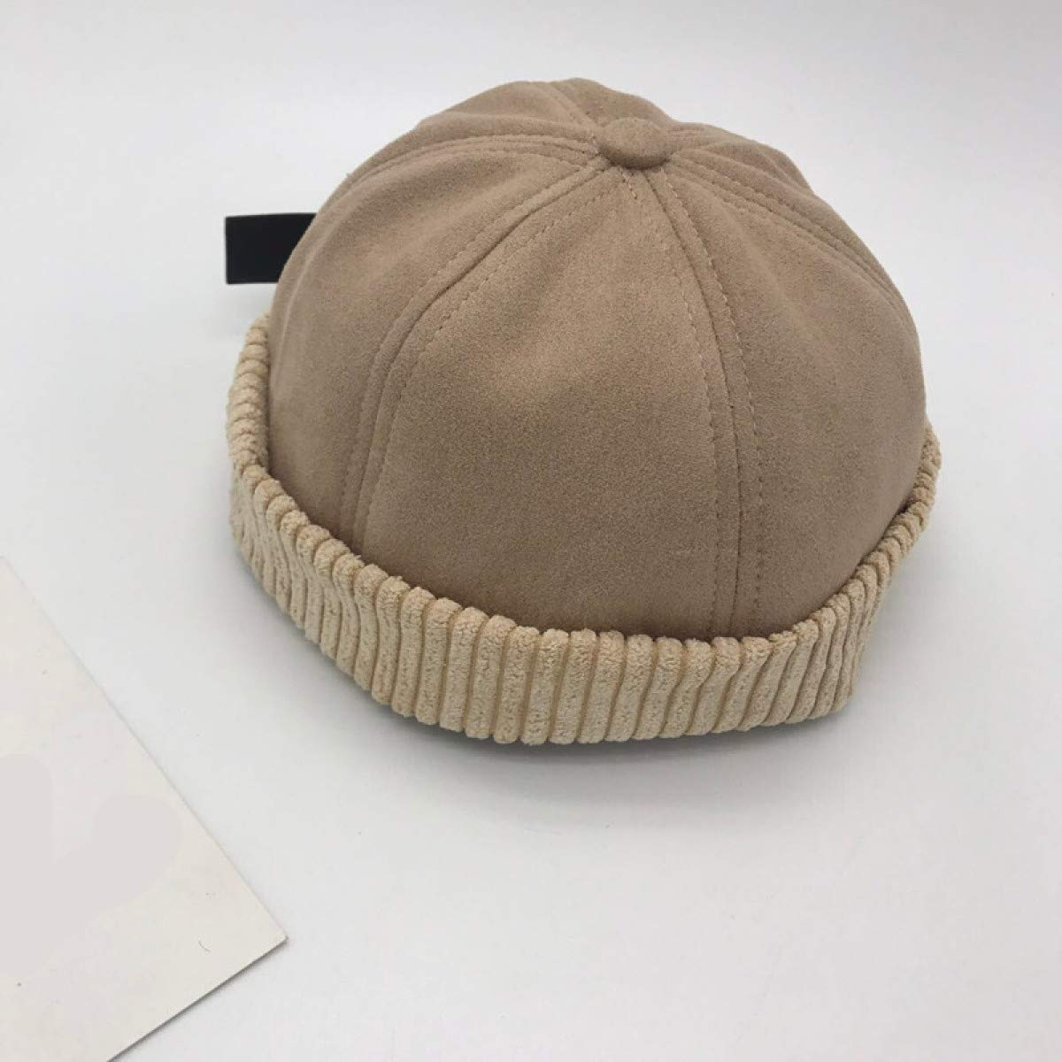 Myhome99 Style Spring Fashion Solid Color Suede Warm Wool Winter Women Men Beret French Artist Beanie pachyrhizus Cap for Female Gift Khaki