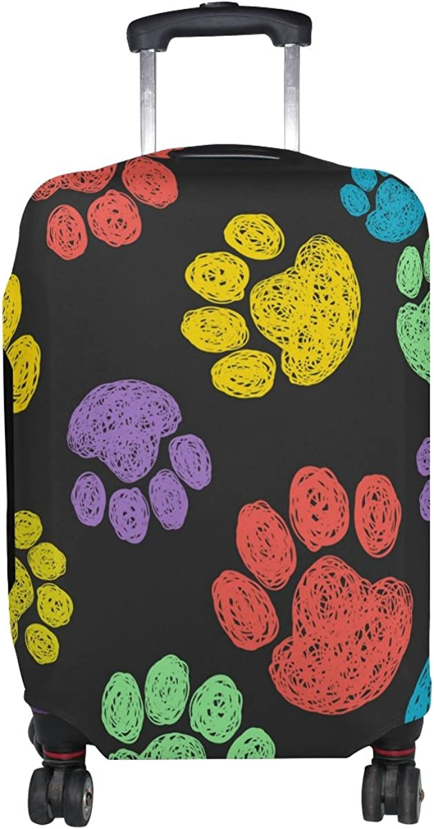 GIOVANIOR Cat Dog Paws Footprints Luggage Cover Suitcase Protector Carry On Covers