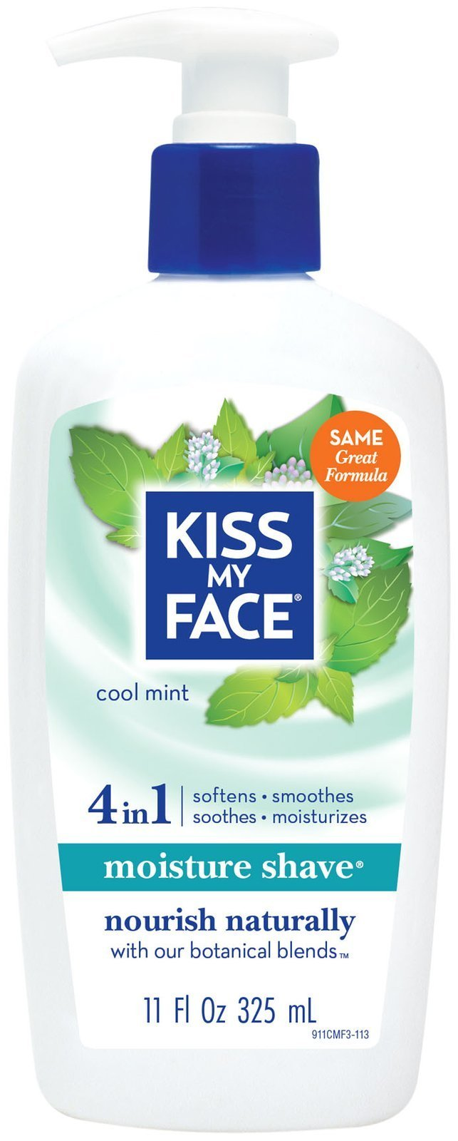 Kiss My Face Vitamin Enriched Moisture Shave with Essential Oils, Cool Mint - 11 oz