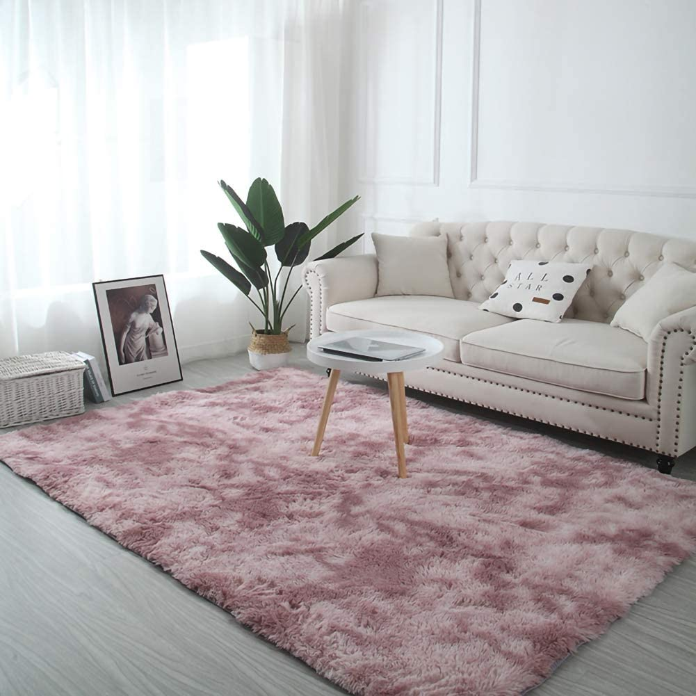 Tysya Indoor Area Rug Polyester Ultra Soft Fluffy Shaggy Pink Carpet Eco Friendly Living Room Bedroom Decor 50x80cm Amazon Co Uk Kitchen Home