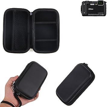 KS-Trade Caso Duro, Estuche para cámara compacta Nikon Coolpix W300, Bolsa/Funda rígida con Espacio para jaulas de Memoria, batería de Repuesto, ...