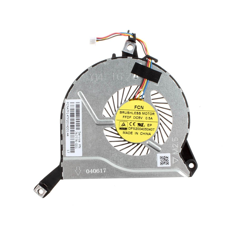 DBParts CPU Fan For HP Pavilion 15-P066US 15-P064us 15-P067CA 15-P051XX 15-P051US 15-P026NR 15-P026CY 15-P043NR 15-P043CL 15-P044NR 15-P099NR 15-P083NR 15-P084CA 15-P087CA 15-p283nr, DC5V 4-Pin by DBParts (Image #1)