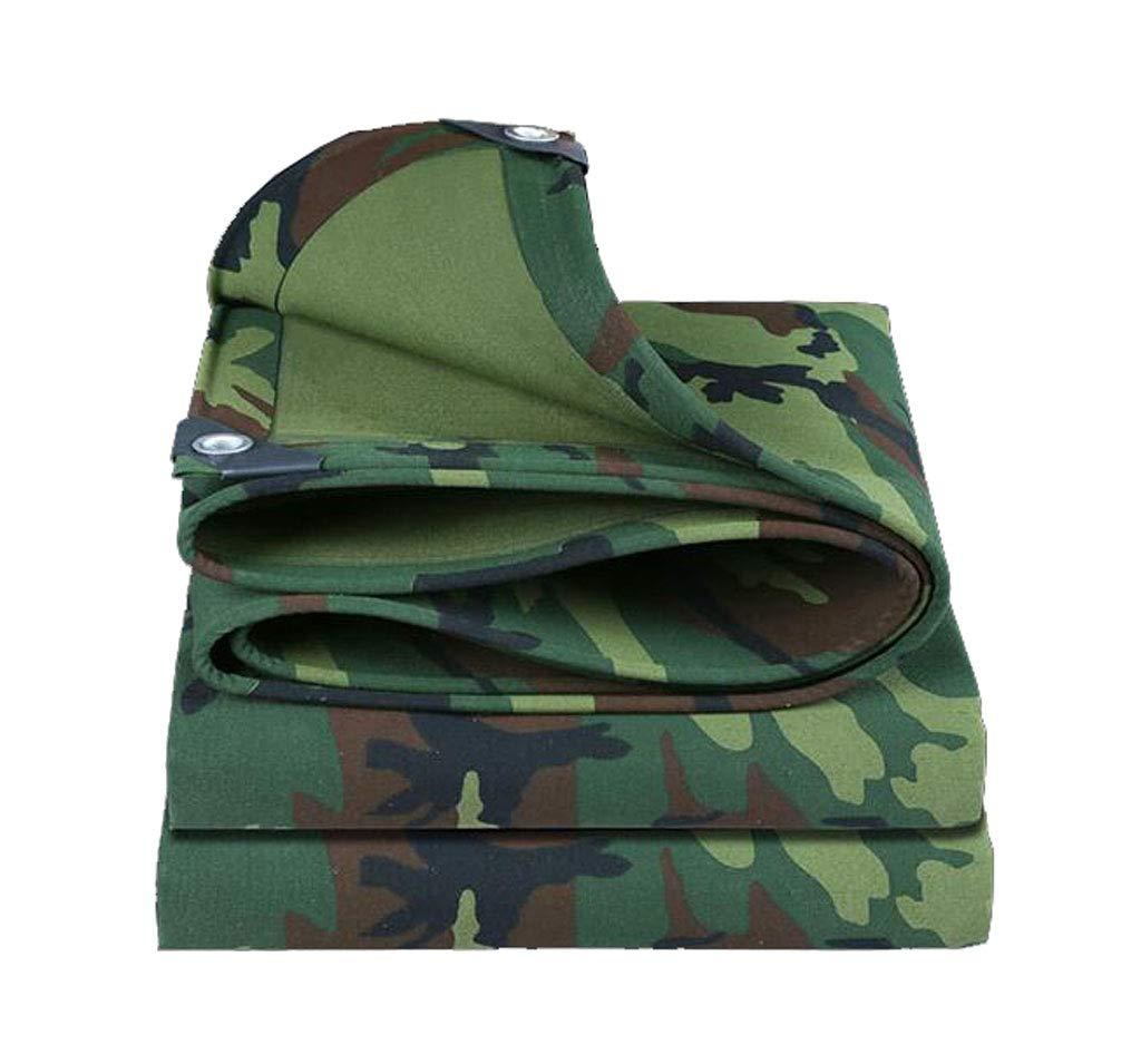 LEGOUGOU Camouflage Dicke Leinwand Regendicht Tuch Multifunktionale Wasserdichte Sonnencreme Schatten Tuch LKW Plane 500g Pro Quadratmeter Dicke 0,6 Mm
