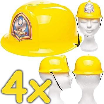 Neu 4 X Baustellen Helme Fur Kinder Verkleidung Zum Bauarbeiter