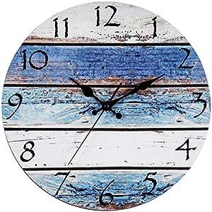 6197R8nMEaL._SS300_ Coastal Wall Clocks & Beach Wall Clocks