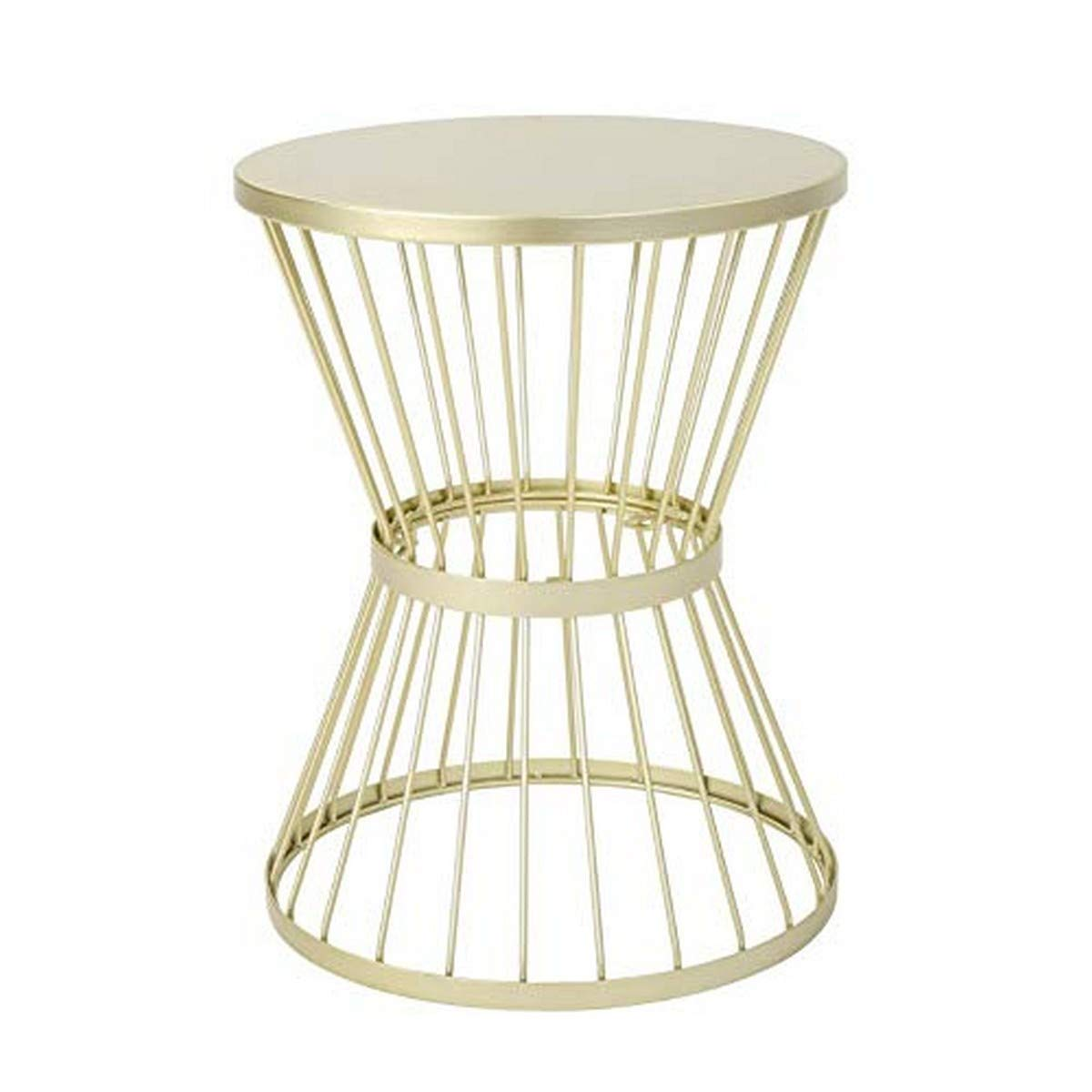 """Christopher Knight Home Lassen Outdoor 16"""" Iron Side Table, Matte Gold"""