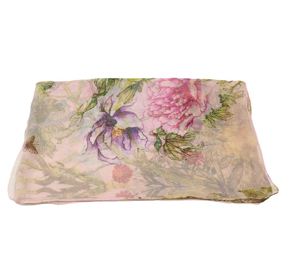 Lubier accessorio per proteggersi dal sole con fantasia a colori elegante pareo da donna in chiffon ultrasottile indossabile anche come sciarpa o scialle