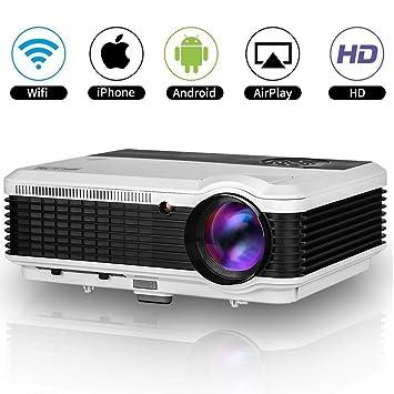 EUG HD 1080p LED Proyector WiFi WXGA 1280x800 Resolucion ...