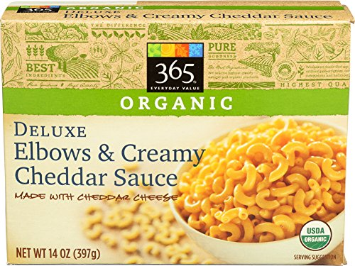365 Everyday Value, Deluxe Elbows & Creamy Cheddar Cheese Sauce, 14 Ounce